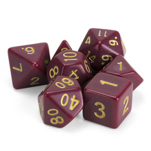 Load image into Gallery viewer, Crimson Queen Dice Set