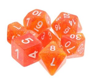 Yellow Red Galaxy Dice Set