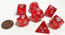 Load image into Gallery viewer, Red Transparent Dice
