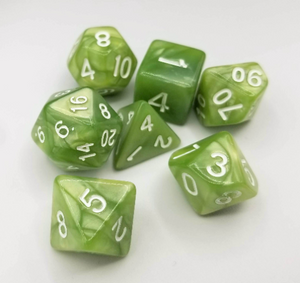 Pale Green Pearl Dice Set