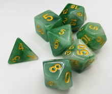 Load image into Gallery viewer, Green Jade Dice Set