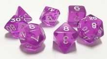 Load image into Gallery viewer, Purple Transparent Dice Set