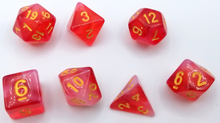 Load image into Gallery viewer, Red Milky Dice Set