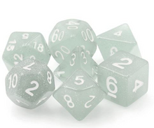 Load image into Gallery viewer, Gray Glitter Dice Set