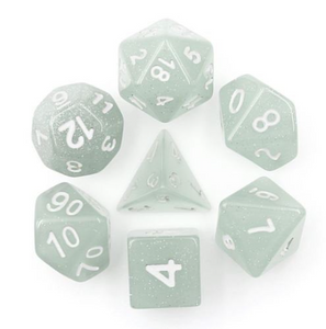 Gray Glitter Dice Set