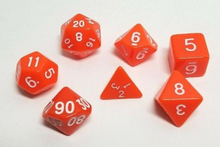 Load image into Gallery viewer, Orange Popsicle Dice Set