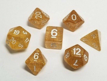 Load image into Gallery viewer, Gold Glitter Dice Set