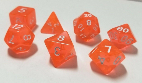 Orange Transparent Dice