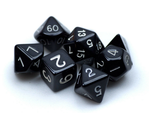 Opaque Black Dice Set