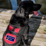 """Service Dog""   Patch with American Flag ."