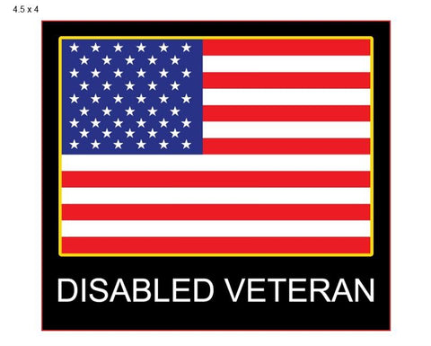 Disabled Veteran- Window Decal