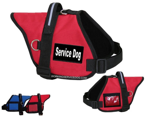 Padded Service Dog Vest- ID Badge Holder with Black & White Patch