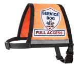 Complete Service Dog Vest with Exclusive Patch, ID Badge and Zipper Pocket
