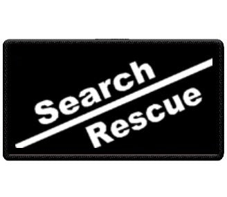 """Search and Rescue"" Black and White Patch"
