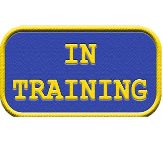 """In Training""  Service Dog Patch ."