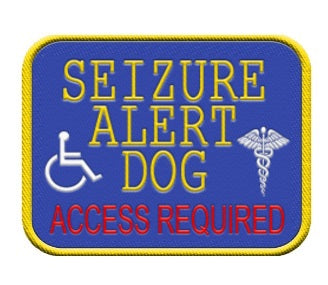 """Seizure Alert Dog""   Patch."