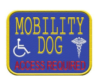"""Mobility Alert Dog""   Patch."