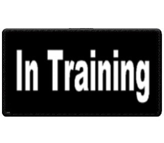 """In Training"" Black and White Patch"