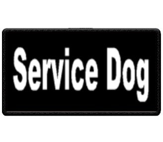 """Service Dog"" Black and White Patch"