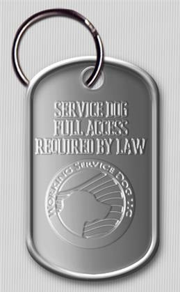 "Dog Tag ""Service Dog, Full Access Required By Law"""