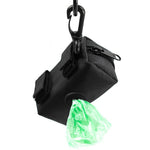 Clip on Poop Bag Holder with Velcro Leash Attachment