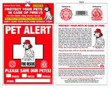 Pet Alert-Pet Safety Window Cling-2 Pack
