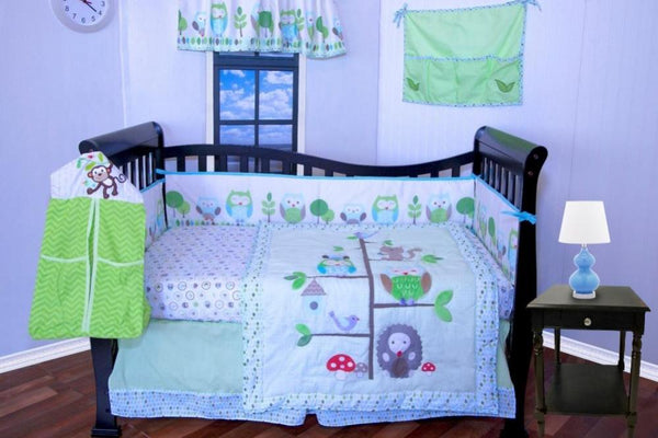 OWL-TREE BABY CRIB BEDDING SET