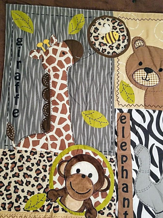 JUNGLE SAFARI BABY CRIB BEDDING SET
