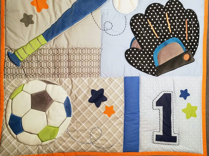 ALL-STAR SPORTS BABY CRIB BEDDING SET