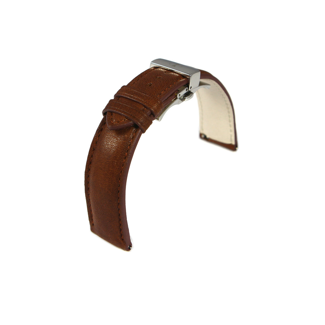 Sablier 20 MM Leather Straps with Steel Case Buckle