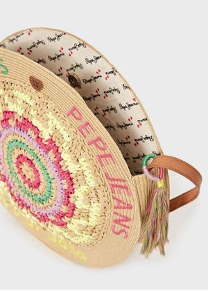 Pepe Jeans braid round beach bag