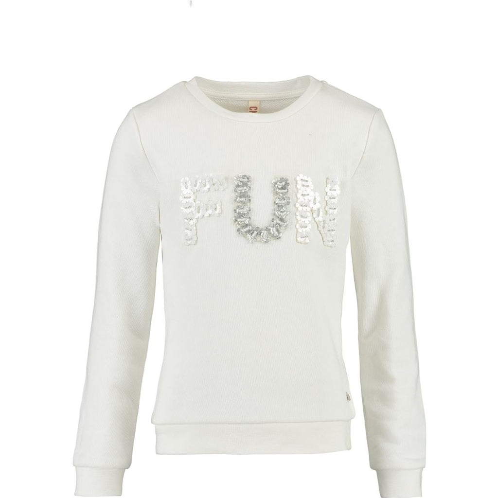 CKS meisjeskleding sweater Janalyn wit 104 110 116 122 128 134 140 152 158 164