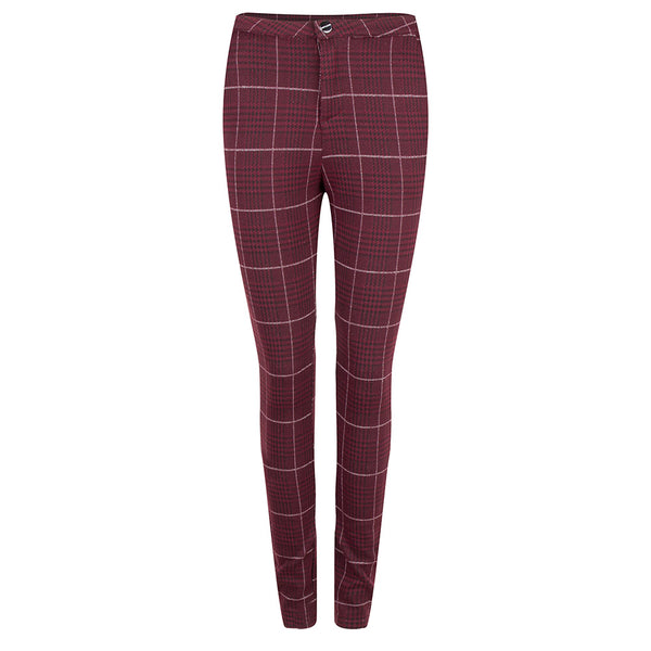 Jacky Girls Broek Bordeaux geruit