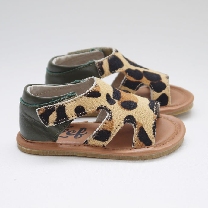 LEOPARD SANDAL (SALE) Last sizes 26, 27, 29