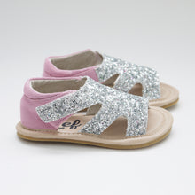 Load image into Gallery viewer, GLITTER SANDAL (SALE) Last Sizes 19, 20, 21, 22, 23, 25