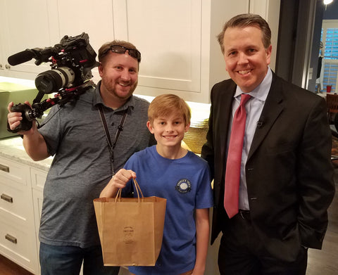 Charlie with Jason and Taylor of WFAA - Channel 8