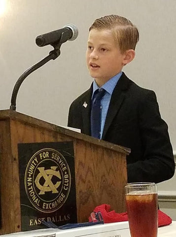 Charlie Delivers Keynote Address at Exchange Club of East Dallas