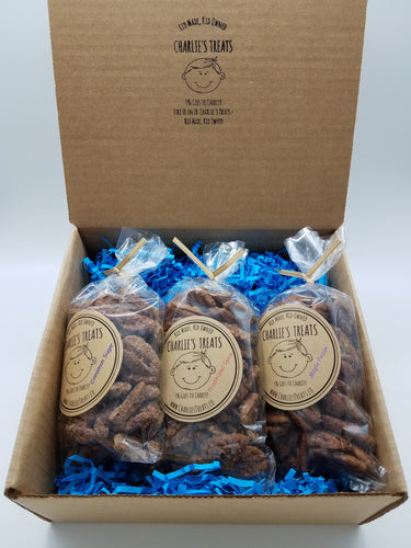 Charlie's Treats Gift Box with Three 5 oz. bags
