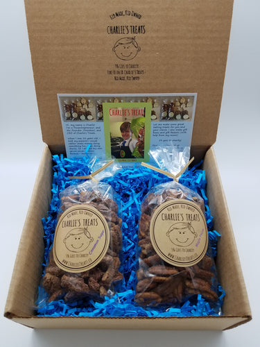 Charlie's Treats Gift Box with Two 5 oz. bags