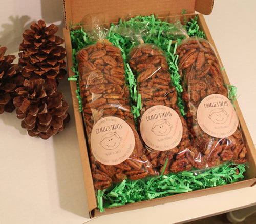 Charlie's Treats Gift Box with Three 10 oz. bags
