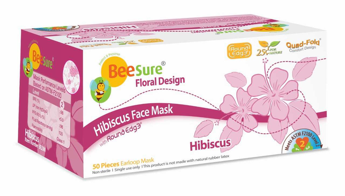 Beesure Face Mask With Floral Design Be 2300 2310 2320 2330 2340