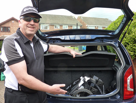 Kevin puts his R1 Push inside his VW UP