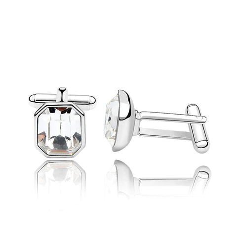 emannashop.com - Classic Octagon Cufflinks With Crystals From Swarovski Elements (4 Variants)