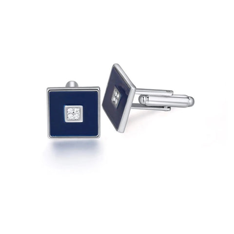 emannashop.com - Classic Square Cufflinks With Czech Crystals (3 Variants)