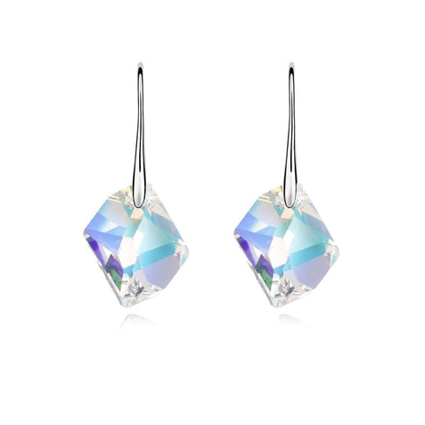 emannashop.com - STOP-Rhombic Crystal Drop Earrings With Crystals From Swarovski Elements