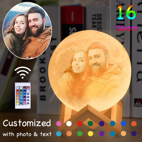 Customized 3D Photo Moon Lamp