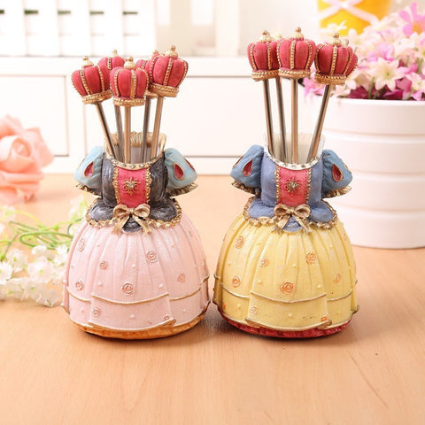 emannashop.com - Pretty Dress Dessert Fork Holder