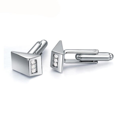 emannashop.com - 3 Gems Cufflinks With Czech Crystals