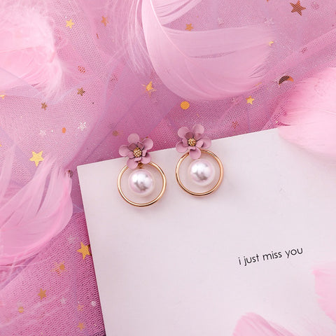 emannashop.com - Korean Design 1 - Pink Earrings (30 Variants)