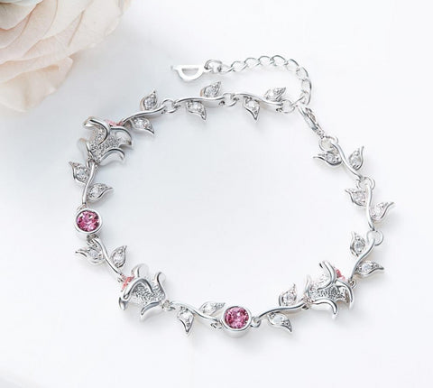 emannashop.com - Bracelet Embellished With Crystals From Swarovski-D4